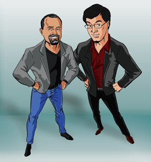 Mark and Eric Cartoon